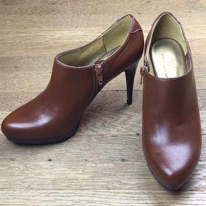 Worthington Platform Brown Ankle Boots Shoes 6.5 M